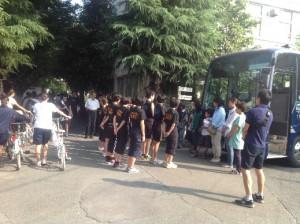バレーボール部 合宿バス